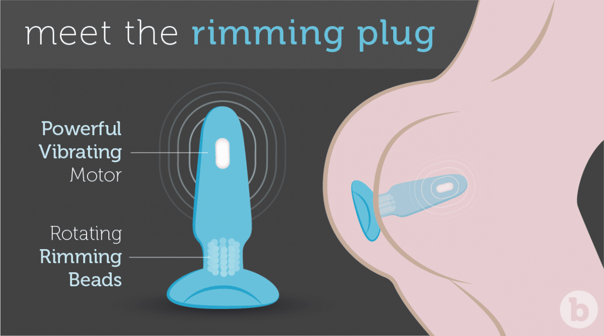The b-Vibe Rimming Plug is a premium sex toy for all couples indulging in