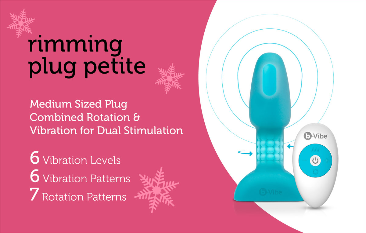 The Rimming Plug Petite is the smaller version of b-Vibe Rimming Plug 2