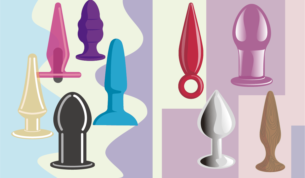 Anal toys come in all sorts of materials, soft and firm.