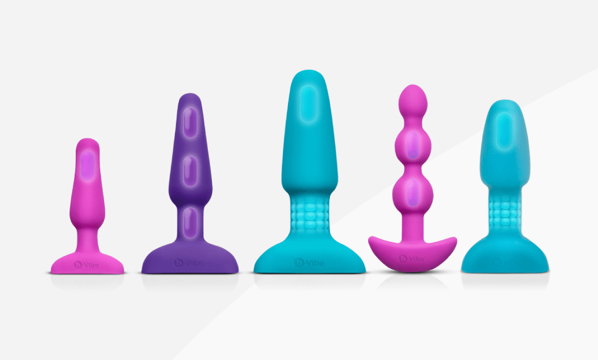 b-Vibe's high-quality butt plugs are made of body-safe silicone.