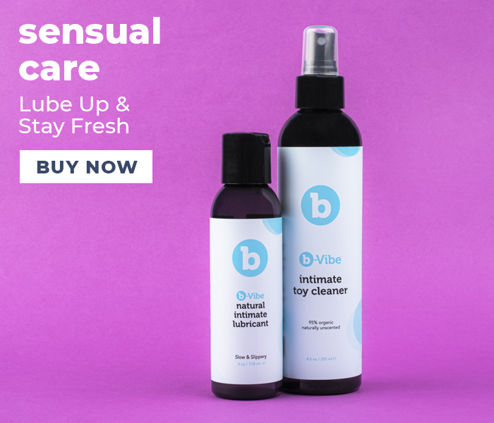 Browse the b-Vibe sensual care products