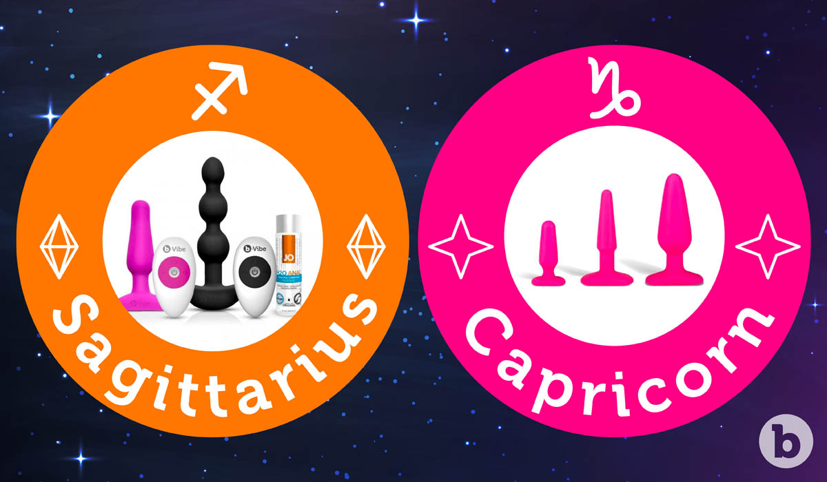 If the Sagittarius zodiac sign were a b-Vibe it would be everything and Capricorn would be the Beginners Anal Training Kit