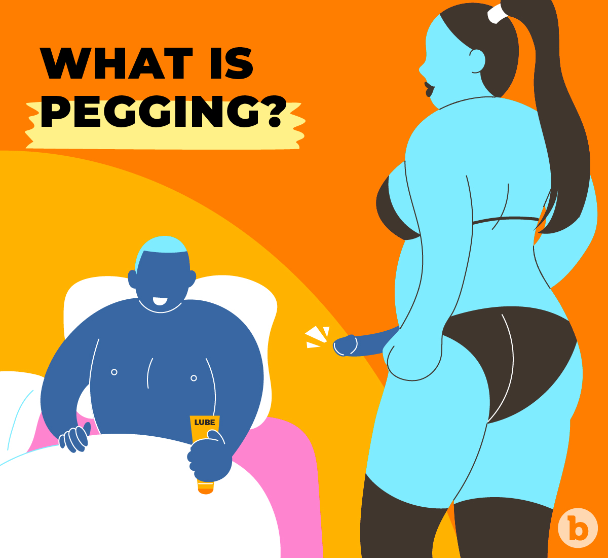Pegging is the act of anally penetrating someone with a strap-on dildo