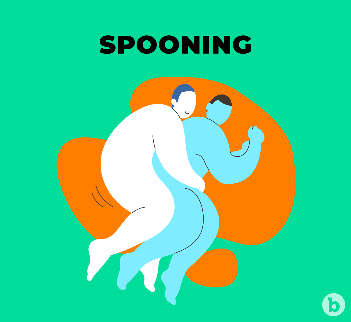 Spooning is one of the most comfortable positions when it comes to pegging