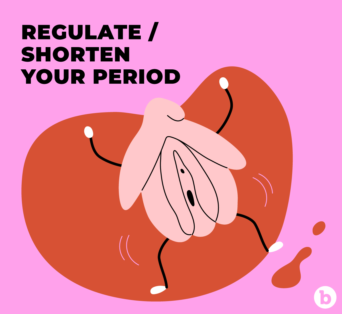 Sexual pleasure can help regulate and even shorten your period