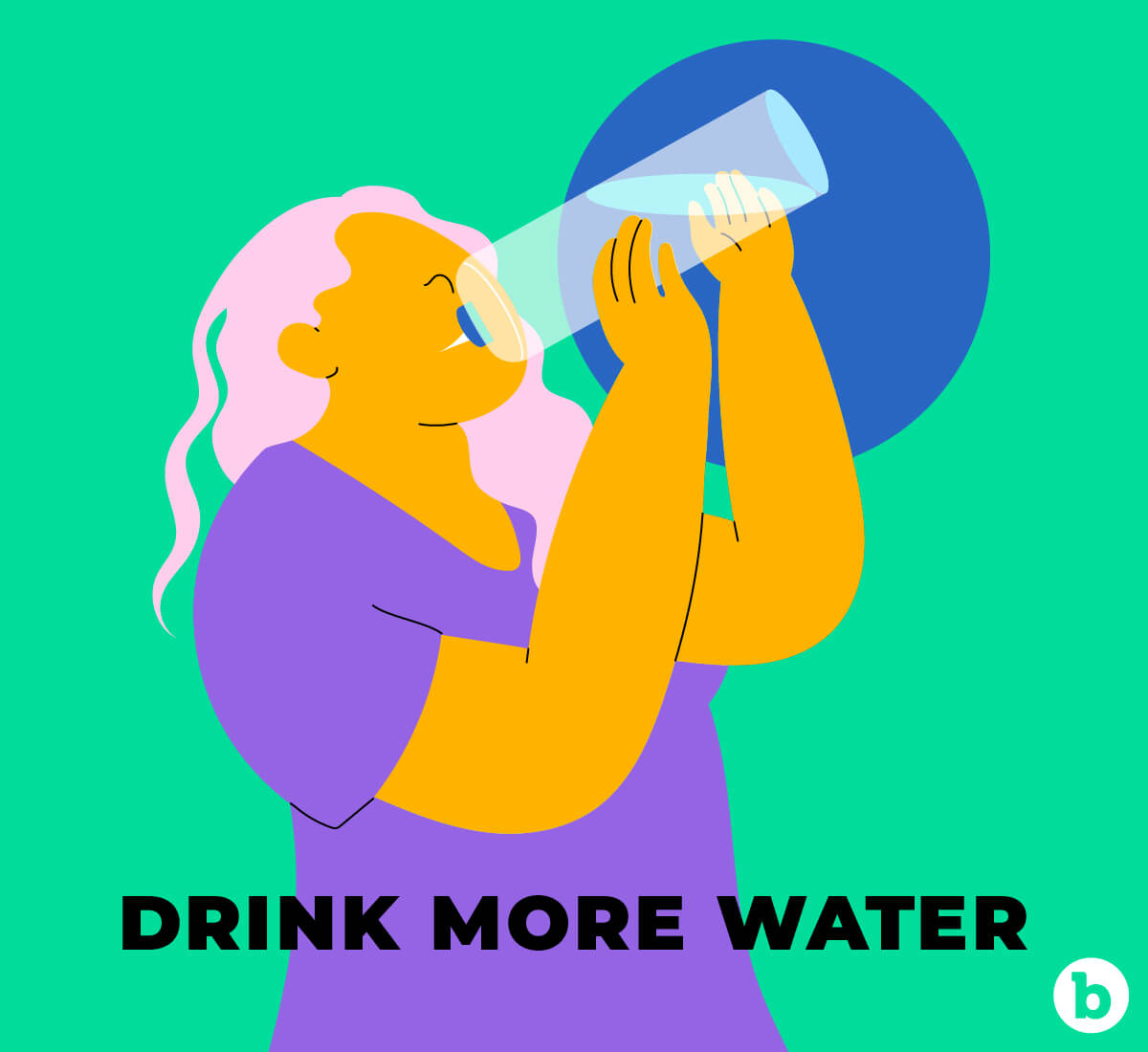 Drinking more water should be a general resolution for 2021 as well as a booty resolution