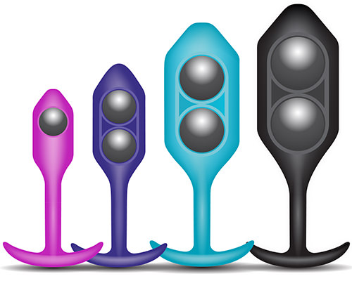b-Vibe Snug Plugs are weighted butt plugs that range from 55 grams to 255 grams