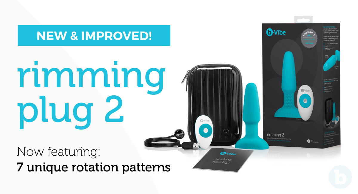 Meet the new and improved b-Vibe Rimming Plug 2
